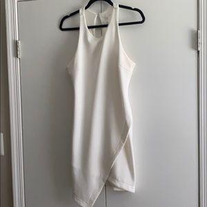 Body Con White Key Hole Back Dress
